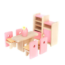 Dolls House Minaiture 1:12 Wooden Bedroom Lounge Kitchen Bed Furniture Accessory