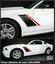 Ford Mustang 2010-2014 Roush Style Fender Side Stripes Decals (Choose Color)