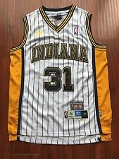 NBA Indiana Pacers Reggie Miller Throwback Jersey Sewn/Stitched NWT