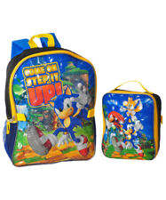 """Sonic the Hedgehog """"Step it Up"""" Backpack with Lunchbox"""