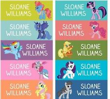 68 Personalized kid Name back to school Stickers my little pony rainbow dash