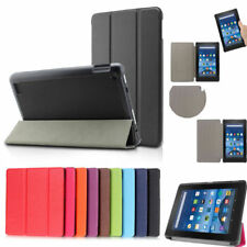 For Amazon 2016 Kindle Fire HD8 Folding PU Leather Cover Smart Case Good