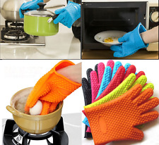 1PcKitchen Heat Resistant Silicone Oven Glove Pot Holder BBQ Cooking Mitt Baking
