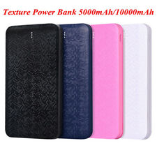 External Ultra Thin Texture Backup Power Bank Battery Charger For iPhone Huawei