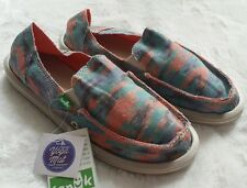 NWT! Sanuk Donna Watercolor Poncho Bright Shoes Slip Ons Sz 6 7 10