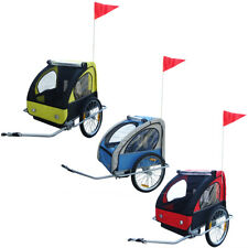 Kids Children Bicycle Bike Cargo Trailer with Canopy Folding Red/Blue/Yellow