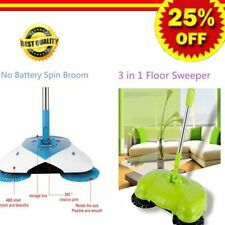 360° Spin Hand Push Broom Sweeper Household Floor Cleaning Mop NO Electric BG