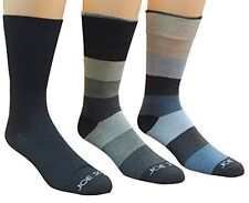 3-Pack Men's Dress Socks, Colorful Patterned Solid & Striped Socks, Size: 10-13
