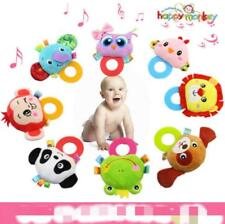 Animal Baby Infant Hand Bell Plush Toy Elephant Lion Frog Owl Ring Rattles Q