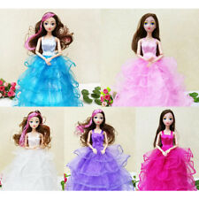 26cm Fashion Princess Party Dress Clothes Gown Outfits for Barbie Dolls Gift