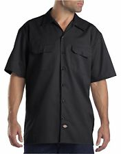 Dickies Black 1574 Traditional Short Sleeve Work Shirt Size S-3XL NWT