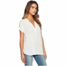 Women Chiffon V-neck Short Sleeve Tops  Blouses Shirts
