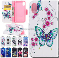 PU Leather Card Magnetic Stand Pattern Wallet Case Cover Skin For Apple iPhone X
