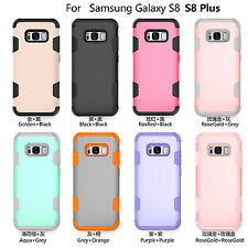 Shockproof Hybrid Rugged Rubber Hard Silicone Case Cover For Samsung Galaxy S8 +
