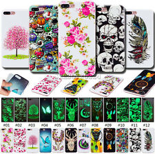 Fashion Skin Night Lights Soft TPU Fluorescence Case Painted Cover For Apple