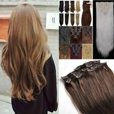 Long 3/4 Full Head Clip in Hair Extensions 5Clips With 10% remy human hair HG79