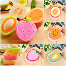 Fruit Shaped Dish Washing Cleaning Gadget Sponge Scrubber Scouring Pad Kitchen