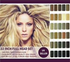"""22"""" (Inch) Long Full Head Premium Clip In Remy Human Hair Extensions. Buy Now"""