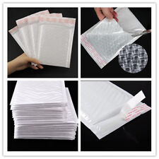New White Chic Poly Bubble Mailers Padded Envelopes Shipping Bags Self Seal Bag