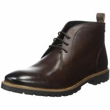 Base London Trojan Brown Mens Leather Chukka Lace-up Ankle Boots