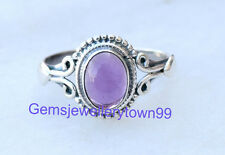 925 Sterling Silver Ring Blue Amethyst Ring stone Ring Size 5 6 7 8 9 10 11 R7AM