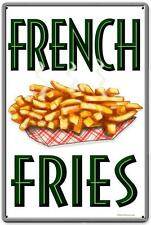Vintage Retro Restaurant Diner French Fries Metal Sign Unique Wall Decor RPC183