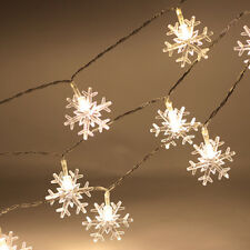 2.5m 20LED Snowflake Fairy String Lights Outdoor Christmas Wedding Party Decor