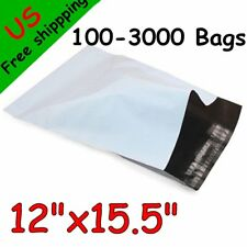 100-3000 12x15.5 Poly Mailers Shipping Envelope Self Seal Plastic Bags US Stock