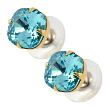 Liz Palacios Square Earrings, Gold Plated Crystal Post Earrings