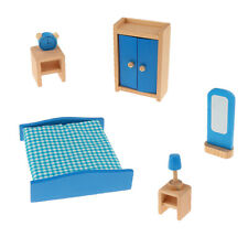 Cute Wooden Dollhouse Miniature Accessories Room Furniture Set Pretend Play Toys