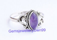 Blue Amethyst Ring 925 Sterling Silver Ring stone Ring Size 6 7 8 9 10 11 R21AM