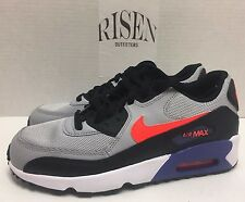 Nike Air Max 90 Mesh GS Kids Youth Running Shoes Wolf Gray 833418-002 NEW