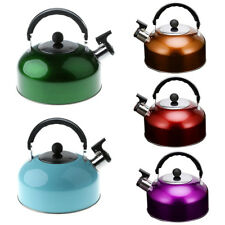 Deluxe Stainless Steel Whistling Tea Kettle Outdoor Camping Water Pot 3 Liter
