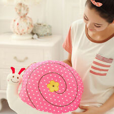 2 Colors Cute Cartoon Snail Plush Pillow Back Seat Cushion Kids Soft Stuffed Toy