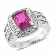 Radiant Orchid Quartz Stainless Steel Ring  TGW 3.50 cts.