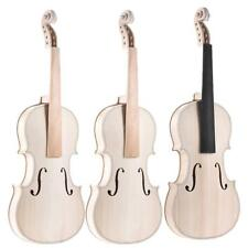 Full Size 4/4  Natural Solid Wood Acoustic Violin DIY Set New for DIY Lover O6U5