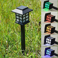 Outdoor Solar Powered LED Lawn Path yard Garden Light Landscape Stake Lamp