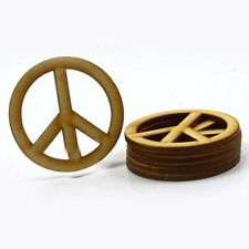 Peace Sign - 1-1/2 inch x 1/8 unfinished wood (PEAC02)