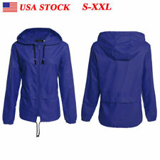 Women's Mens Windproof Waterproof Jacket Unisex Sports Rain Coat Hiking Outdoor