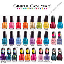 SINFUL COLORS COLOURS PROFESSIONAL NAIL POLISH 15ml VARIOUS SHADES/COLLECTION
