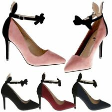 Brooklyn Womens High Stiletto Heels Bunny Ear Bow Tie Shoes Ladies Pumps Size