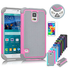 Hybrid Rugged Rubber Hard Shockproof Cover Case For Samsung Galaxy S5 SV i9600