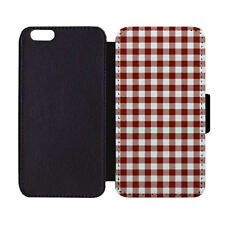 Wallet Phone Case Gingham Red Summer Time Picnic Backyard BBQ Traditional Classi