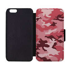 Wallet Phone Case Army Camo Pink Camouflage Print Pattern Apple iPhone 5 5S 6 6S