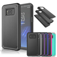 Hybrid Rugged Shockproof Rubber Hard Cover Case for Samsung GALAXY S6 S5 S7 S8