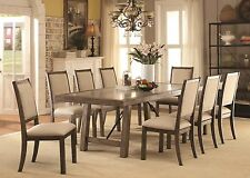 Kitchen Dining Room 9pc Dining Set Contemporary Dining Table & 8 Side Chairs New