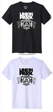 AB Linkin Park Band White & Black Summer ShortSleeve T shirt Jacket CoatFashion