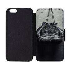 Wallet Phone Case Boxing Gloves Antique Rustic Hanging Punch Fight Print Pattern
