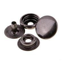 30 Sets Vintage Metal Snap Fasteners Sewing Button Press Studs for Leather Craft