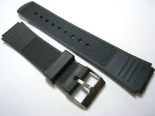 Black Rubber/Plastic Watch Strap. 16mm,18mm & 20mm. Fast Delivery from UK